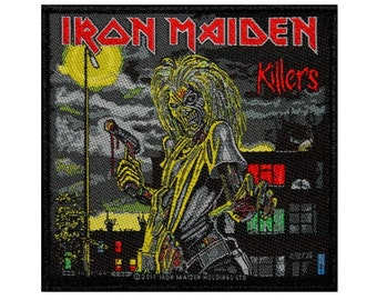 "Heavy Metal Fan ""Iron Maiden: Killers"" Band Patch Album Cover Art Sew-On Applique"