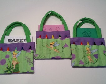 Tinkerbell Children's Crayon Bag and Customized Paper, Birthday Party Favor