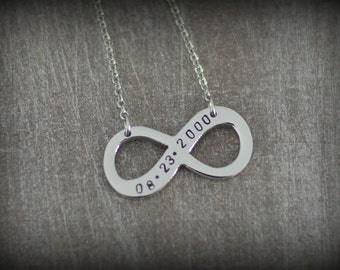 Personalized Infinity Name Necklace - Two Name Necklace - Friendship Necklace