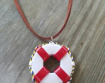 Life Saver Nautical Charm necklace