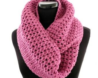 Crochet Scarf PATTERN, Infinity Scarf Pattern, Pretty in Pink Scarf, DIY Scarf For Women, Instant Download PDF Pattern #150, Lyubava Crochet