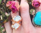 OOAK Angel Aura Ring - Any Size - electroformed Copper
