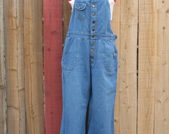Vintage Grapevines High Waist Flare Overalls