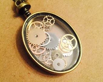 Gears and Cogs Necklace