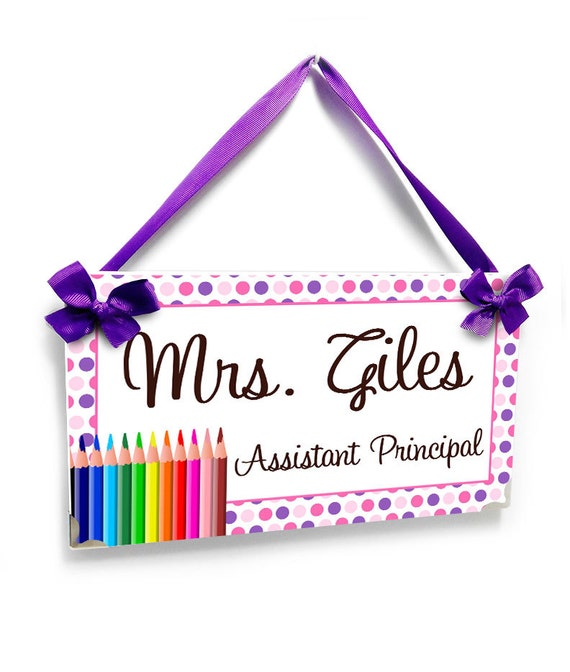 personalized Assistant Principal office name door sign