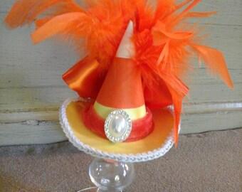 Candy corn mini witch hat fascinater costume accessorie