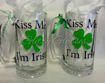 Kiss Me I'm Irish  Beer Mug
