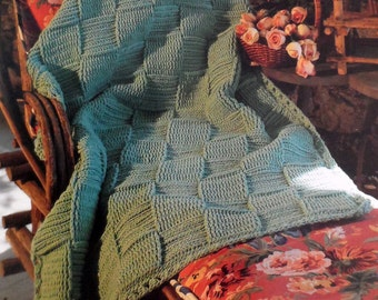 Basket Weave Afghan Crochet Pattern, Adult Throw Blanket, Lap Blanket Pattern
