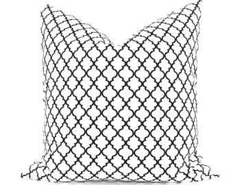 Black  Pillow - Pillow Covers 16x16 - Pillows - Throw pillow covers - Decorative Throw Pillows - Black and White - Home Decor - Housewares