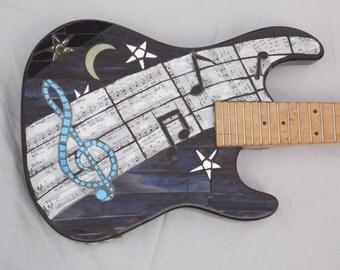 MIDNIGHT BLUES Mosaic Guitar