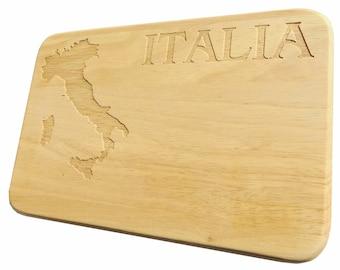 Bread Board Italia breakfast Board Italy - breakfast board Italy - engraving - wood
