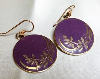 Vintage Laurel Burch earrings, floral.