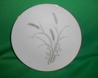 """One (1),  Mikasa, 8 1/8"""" Porcelain, Salad Plate, in the Sentinel 6150 Pattern."""