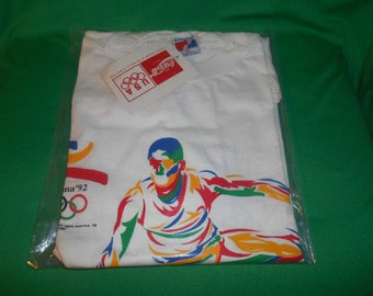 One (1), 1992 Barcelona Summer Olympic Games, T Shirt, from Coca Cola.