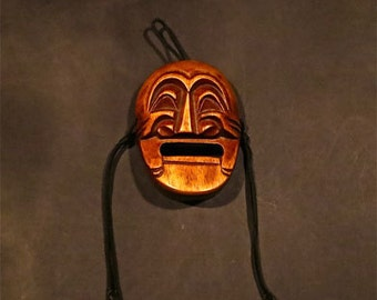 Vintage Handcarved Asian Character Mask