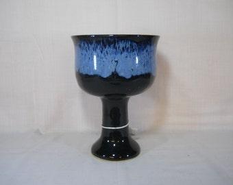 Goblet/Chalice  Black and Blue