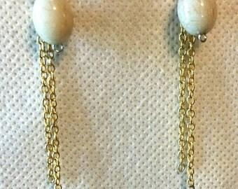 Beaded Earrings, Dangle Earrings, Gold Accents, Shoulder Dusters