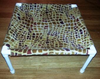 The Pet Hammock - Fleece Fabric - Stained Glass pattern