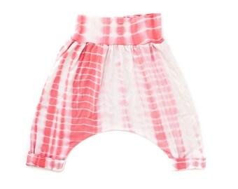 Strawberries & Cream Tie-Dye Cropped Harem Pants.