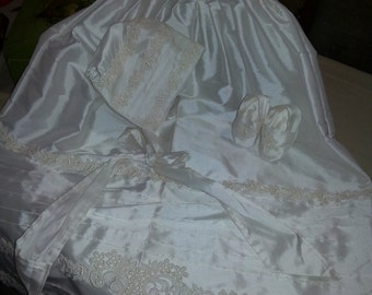 100% Duponi Silk Baptismal/Christening Gown
