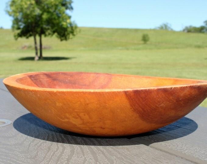 Vintage Wood Bowl Solid Maple, Wood Dough Bowl
