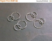Memorial Day Sale Handmade 15mm + 20mm Sterling Silver 18ga Hammered Double Links - MADE TO ORDER