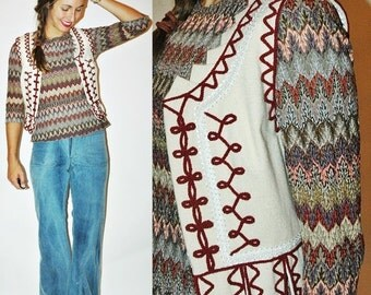 SHOP IS AWAY vintage Folk Traditional Polish Wool Soutache Vest