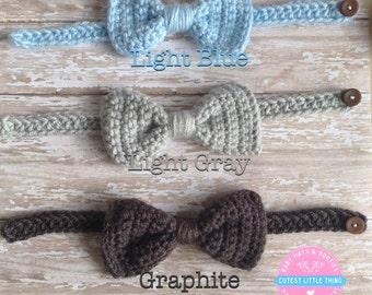 Baby Bowtie, Crochet Bowtie, Baby Bow tie, Tie Photo Prop