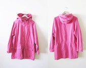 90s Windbreaker / 90s Ralph Lauren Windbreaker / 90s Hip Hop Clothing / Pink Anorak Large