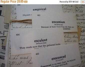HUGE SALE 50 Vintage Flash Cards 1950s Scholarly Vocabulary Cards