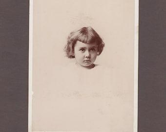 Portrait Cabinet Card of a Sweet Little Girl