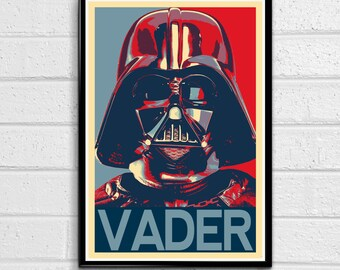 Star Wars Darth Vader Political Poster, Film, Movie, Pop art, Home Decor, Geeky Poster, Nerdy Print #2 Canvas