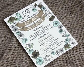 WHIMSICAL WOODLAND wedding order of service