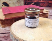 Calligraphy Black Ink for Dip Pens and Quills - Natural from Stone Pigment and Minerals - Ideal for Copperplate Hand