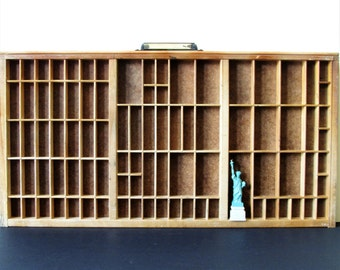 Vintage letterpress tray, letterpress drawer, industrial decor.