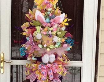 Bunny Swag, Bunny Wreath, Easter Bunny Swag, Easter Wreath