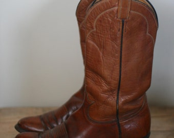 vintage tony lama cowboy boots mens size 10B