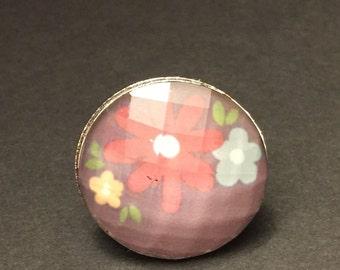 Sweet flower daisy adjustable ring