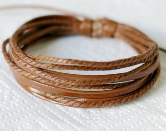 830 Brown leather bracelet Leather bands bracelet Ropes bracelet Men bracelet Women bracelet Fashion leather jewelry For men and women
