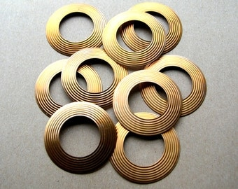 Large Raw Brass Rings - 2 Inch Rings - Large Brass Rings - Steampunk Rings - Brass Destash - Brass Findings