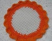 Orange Crocheted Lid Jar Bottle Opener Kitchen Helper