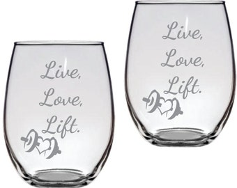 Live Love Lift Weights Crossfit FREE Personalization