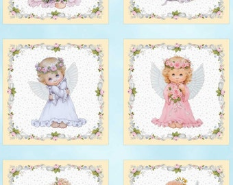 Angel & Fairies Angels Panels Cotton Quilting Fabric 60cm x 110cm