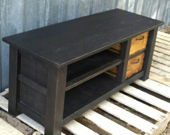 Custom Rustic Reclaimed Bench Entry Cubby and Shelf Cubby Set for Nan in WA
