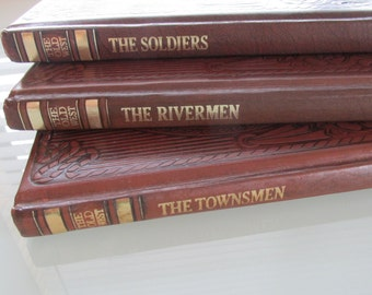 Time Life Old West history books, the Soldiers Rivermen Townsmen