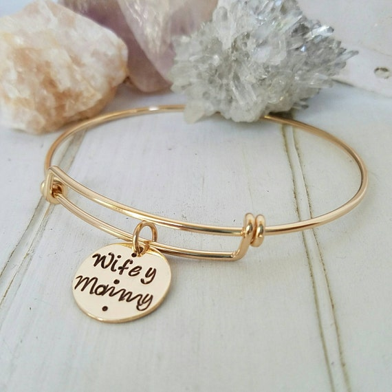 Gold Expandable Bangle Bracelet, 14kt Gold Filled Bangle Bracelet, Expandable Bracelet, Charm Bracelet, Personalized Adjustable Bangle