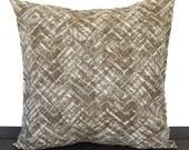 Pillow, Throw Pillow, Pillow Cover, Cushion, Decorative Pillow, Caldwell Caramel Brown Cream Gray traditional contemporary modern decor