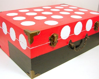 Kids Carry All, Decorative Box, Wood crafts, Mickey Mouse Box, Minnie Mouse Box, Hand Painted, Disney, Disneyworld
