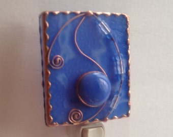 Blue Stained Glass Night Light