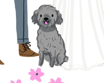 Two Pet Illustrations for Emilie M (digital file only)